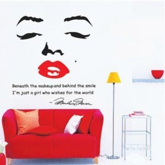 Charming Marilyn Monroe Vinyl Wall Decals